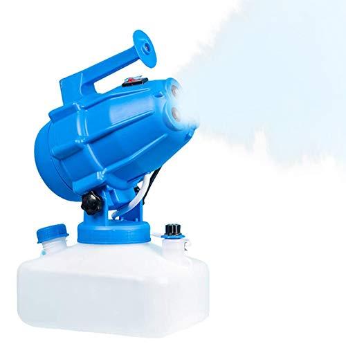 TOPQSC Pulvérisateur électrique de brumisateur d'ULV de 5L, pulvérisateur Froid portatif de désinfection de Drogue de Moustique de Machine de Brouillard pour l'école d'hôtel de Jardin (Bleu)
