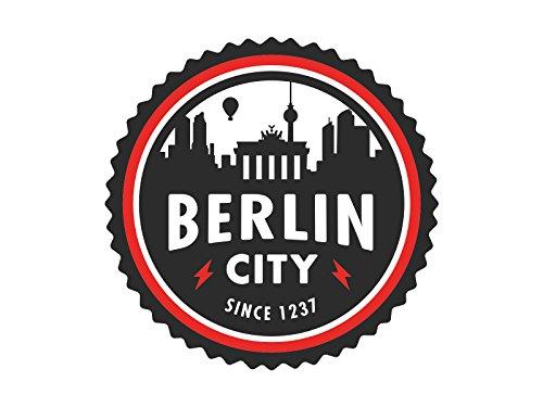 Basari Design Berlin City Badge Sticker Aufkleber 7 x 7 cm (3 Stück)