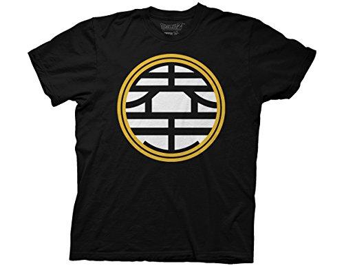 Ripple Junction Dragon Ball Z King Kaio Symbol Adult T-Shirt Small Black