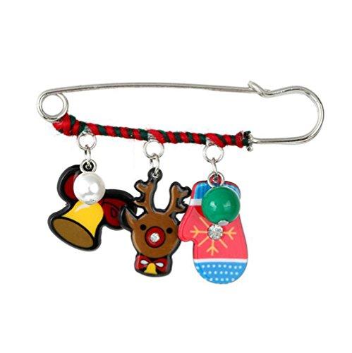 Demarkt Kerstmis broche naald aansteker spelden geschenk sieraden legering 5 * 7 cm 5*7cm Zoals op de foto A