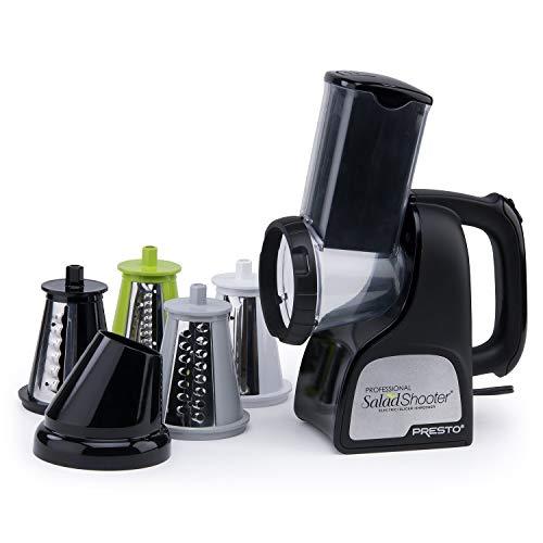 Presto 02970 Professional SaladShooter Electric Slicer/Shredder, Black.