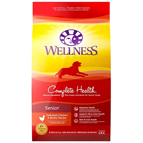 Wellness Natural Pet Food 8910 Complete Health Natural Dry Senior Dog Food, Chicken & Barley,...