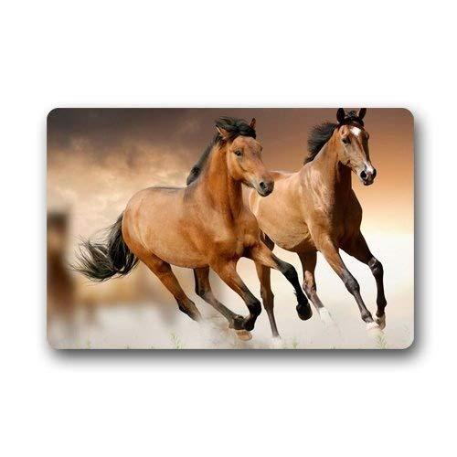 Alfombras de goma decorativas para puerta, de caballos, lavables para interiores y exteriores, para casa, alfombra de entrada, alfombrilla antideslizante de goma 60 x 30 cm