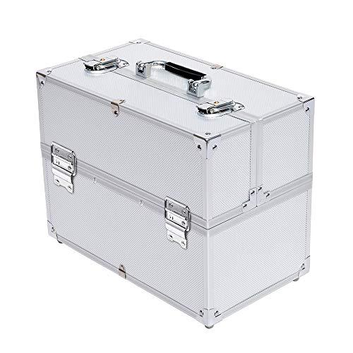 AUFUN Kosmetikkoffer mit 2 Klappschlössern Groß Schminkkoffer für Gepäck XXL 340 * 210 * 290mm...