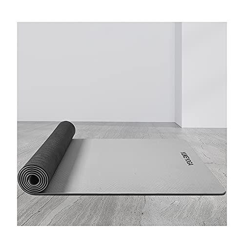 Esterilla Yoga TPE, Colchoneta Yoga Antideslizante Yoga Mat Alfombrilla Pilates No Tóxico Alfombra Yoga para Deporte Ejercicio Sala de Yoga 183 * 68 * 0.6 cm
