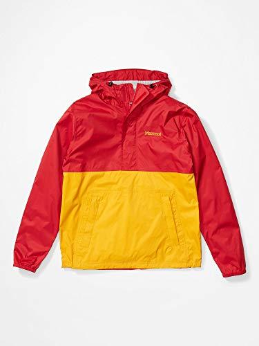 Marmot PreCip Eco Anorak Rain Jacket Mens Sz M Team Red/Solar