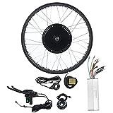 CARLAMPCR Kit de conversión de Bicicleta eléctrica, con Pantalla LCD,36V 250W Rueda Delantera 24'26' Kits de conversión de Bicicleta eléctrica ebike,26INCH