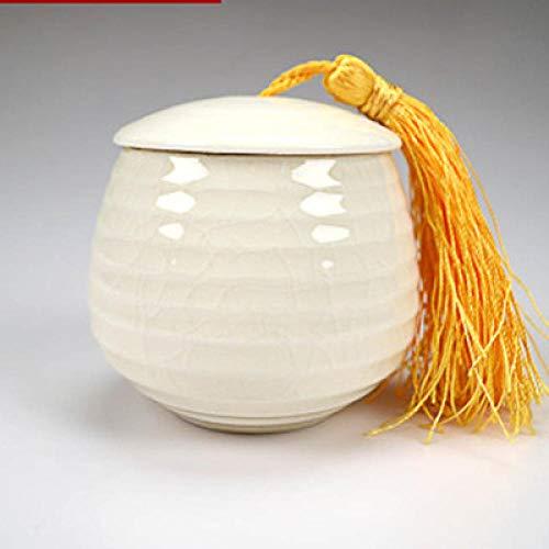 Glazen met deksel Sugar Bowl, theedoos, verzegeld, van Chinese keramiek, bewaardoos, container met blauwe en gele deksel, modieus, decoratie voor huis, keuken, opbergfles Duobaoguanxuebai
