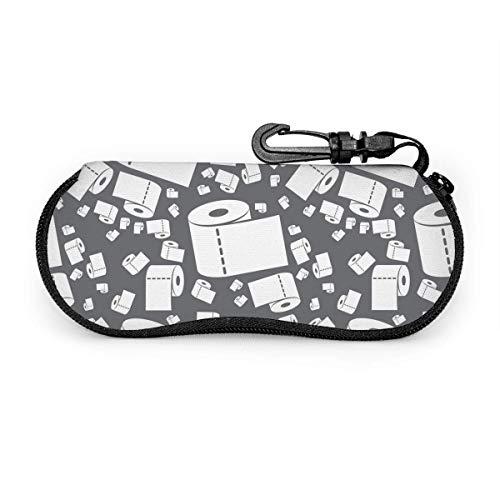 GOSMAO Funda Gafas Rollo de papel de papel para el hogar Neopreno Estuche Ligero con Cremallera Suave Gafas Almacenaje