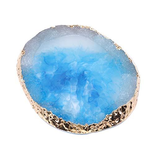 VWH Résine Nail Art Peinture Gel Palette Mélanger Mélanger Plaque Manucure Accessoire DIY Outil (bleu)