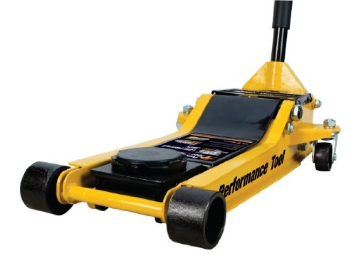 Performance Tool W1645 Yellow Steel Frame-LOW-PROFILE JACKS 3-1/2 Ton (7,000 lbs) Tool