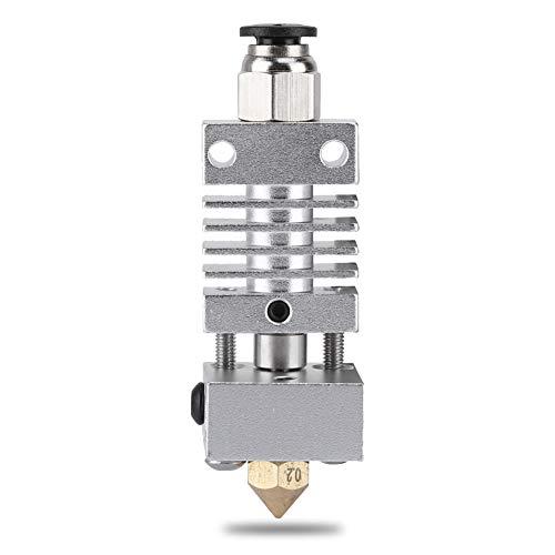 Kit Estrusore Hotend J-Head Stampante 3D Acciaio Inossidabile Metallo Testa di Estrusione - con 5 MK8 Ugello - Applicabile a Materiali di Consumo da 1,75 / 3 mm Per Creality CR10 CR10S CR10S4 CR10S5
