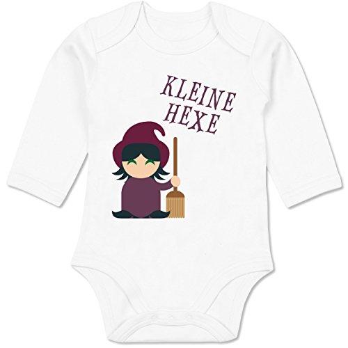 Shirtracer Halloween Baby - Kleine Hexe süß - 12/18 Monate - Weiß - Hexe - BZ30 - Baby Body Langarm