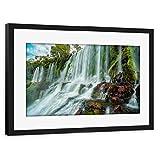 artboxONE Poster mit Rahmen schwarz 60x40 cm Iguazú