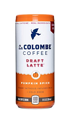 La Colombe Draft Latte - 12 Count - Cold-pressed Espresso & Frothed Milk + Real Pumpkin - Made With Real Ingredients - Grab & Go Coffee, Pumpkin Spice, 9 Fl.Oz
