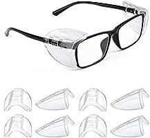 Side Shields for Eyeglasses, Safety Glasses Flexible Slip On Shield, Universal Eye Protection over Glasses, Clear Soft...