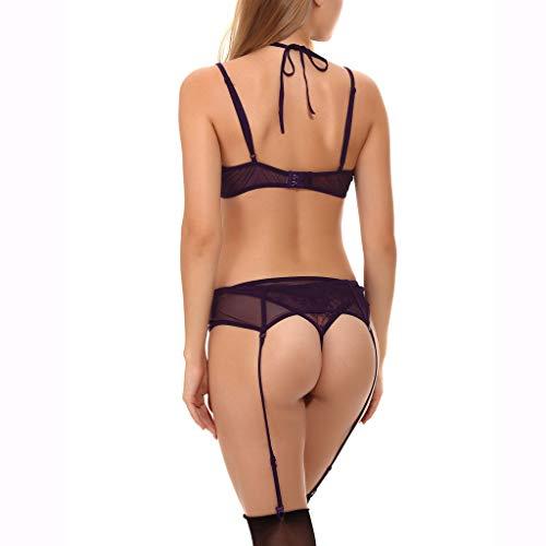 sexy spitzen bh slip set