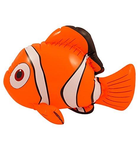 Islander Fashions Kinder Aufblasbare Blow Up Clown Fisch 43 cm Kinder Phantasie Party Spielzeug Zubeh�r Eine Gr��e (Pack von 1)