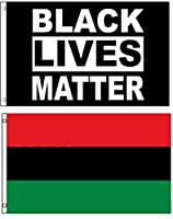 3x5 3'x5' Wholesale Combo African Africa & Black Lives Matter 2 Flags Flag Banner Brass Grommets House Banner Brass Grommets Fade Resistant Double Stitched Premium Quality [並行輸入品]