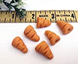 SIX Snowman Miniature Carrot Noses .5 Inch Snowmen Nose Realistic Orange for Crafting Decorative Holiday Hobby Hand Made Christmas Winter Snowmen