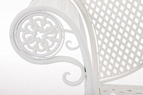 CLP Metall-Gartenbank TJURE im Landhausstil, Eisen lackiert, ca. 140 x 60 cm Weiß - 6