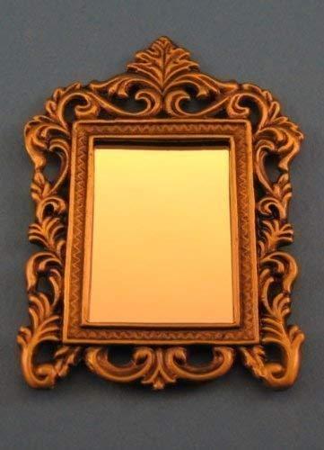 Unbekannt Mini Miroir Carré Noble Orné D Miniature 1:12