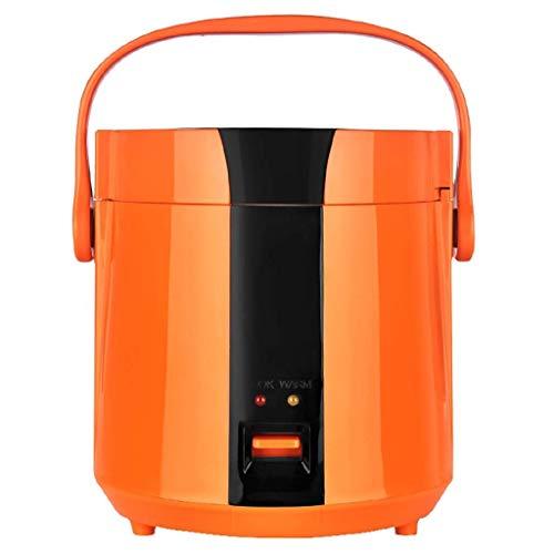 Mini Reiskocher mit Dampfer Non-Stick Innentopf, automatische Kochen, einfache Reinigung, Hochtemperaturschutz - Make Reis Steam (Farbe: Orange) Jzx-n (Color : Orange)