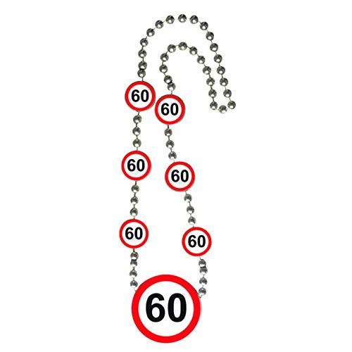 Folat Creative Verkehrsschild Geburtstag Halskette of Honor–60. Geburtstag