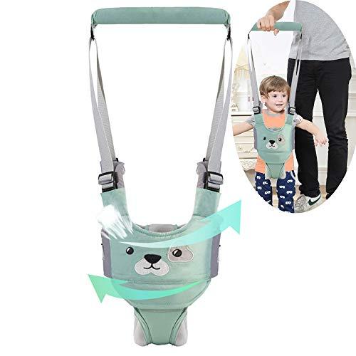 MLM Baby Walking Assistent Handheld Baby Laufgeschirr verstellbar Kleinkind Gehhilfe mit abnehmbarem Schritt und Lätzchen, sicheres Stehen & Gehen, Lernhilfe für Kinder ab 8 Monaten