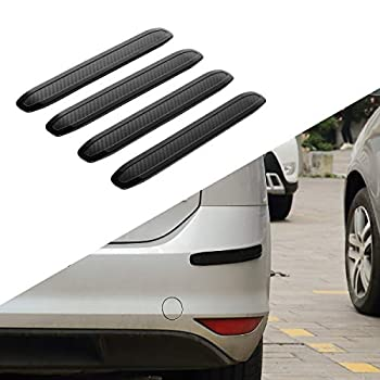 JOYTUTUS Rubber Strips for Car Bumpers Side for Car Pickup Truck Uiversal SUV Anti-Scratch Rear Car Bumper Protector Back  4 Packs