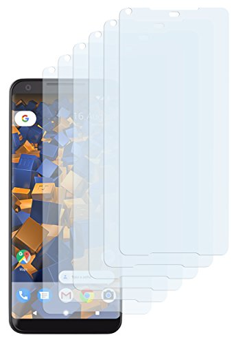 mumbi Schutzfolie kompatibel mit Google Pixel 2 XL Folie klar, Bildschirmschutzfolie (6X)