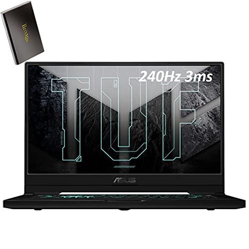 2021 ASUS TUF Dash F15 RTX 3070 8GB 15.6 '240Hz FHD Computadora portátil para juegos, Intel Quad-Core i7 11370H, 16GB DDR4 RAM, 2TB PCIe SSD, WiFi 6, BT 5.2, Thunderbolt 4, Windows 10, BROAGE 320GB Disco duro externo