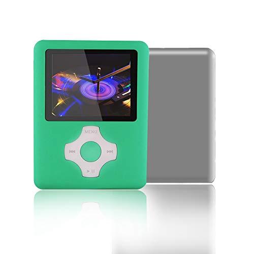 Ueleknight MP3-Player mit 16 G Micro-SD-Karte, tragbarer MP4-Player, Digitaler Musik-Player, Video-Player, E-Book-Reader, Bildbetrachtung, 1,8 Zoll (1,8 Zoll), Grün