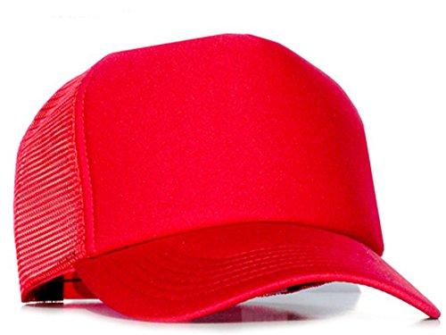 Bastart Caps Casquette de baseball pour homme Rouge Rouge