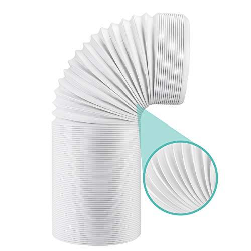 AGPTEK Abluftschlauch 150mm / 4m Lüftungsschlauch PVC Flexibler Schlauch für Klimaanlage Klimagerät Abzugshaube Wäschetrockner Trockner Dunstabzugshaube