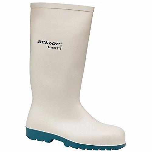 Dunlop Herren A681331 HEVEA Acifort Sicherheitsgummistiefel / Gummistiefel (45 EUR) (Weiß)