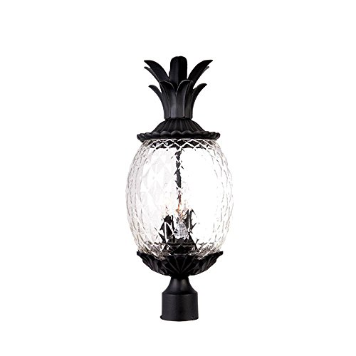 Acclaim 7517BK Lanai Collection 3-Light Post Mount Outdoor Light Fixture, Matte Black