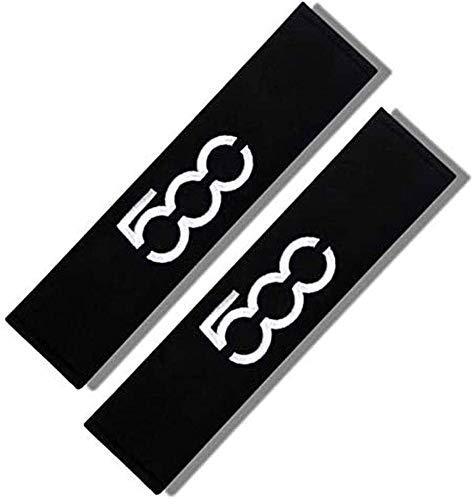 Lyclyb 2 StüCk Kohlefaser Auto Sicherheitsgurt Schulterpolster füR FIAT 500, Gurtpolster Abdeckungen Schutz Leder Styling ZubehöR