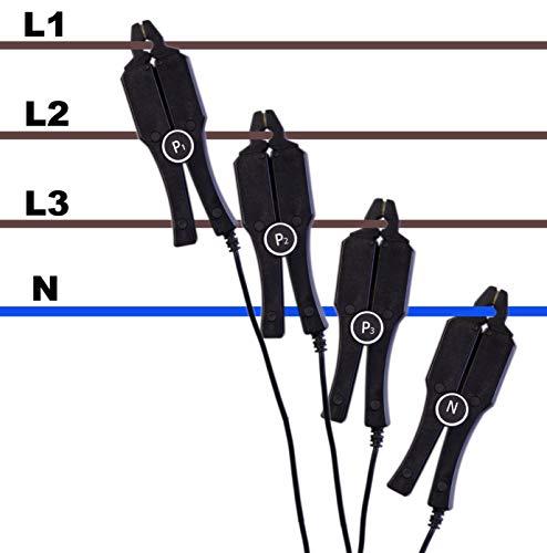 PeakTech P 4145-5A 5 A Stromzange/Messadapter/Sonde mit BNC Anschluss, geeignet für Oszilloskope oder Netzanalyse