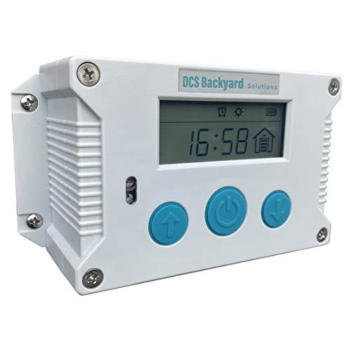 DCS Backyard Solutions Automatic Chicken Coop Door Opener - Weatherproof Chicken Door Opener with Manual, Timer, Light Sensor and Mix Options with Lifting Capacity up to 2 KG.