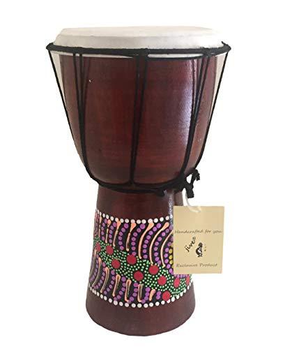 Djembe ドラムボンゴ コンゴ アフリカンウッドドラム Mサイズ 高さ12インチ プロフェッショナルサウンド 中国製ではありません