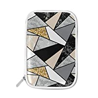 Large Pencil Case/Bag Big Capacity Portable Office Stationery Makeup Bag for Middle High School College Students Girls Boys Teen Storage Organizer Geometric Shapes Marble Gold Glitter
