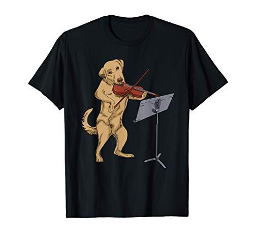 Regalos Violín Perro Viola Golden Labrador Violinista Violín Camiseta