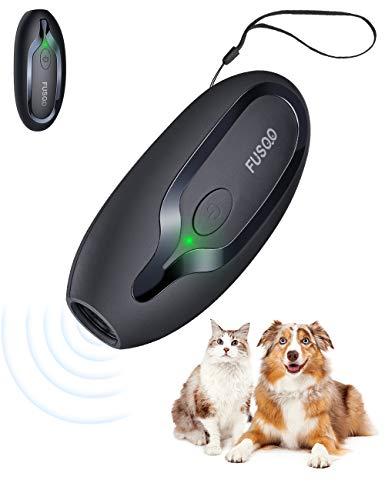 Ultraschall Hunde, Handheld Anti-Bell-Gerät, Anti-Bell-Mittel für Hunde, wiederaufladbare Handheld Trainingsgerät für Hunde mit 5m Reichweite, sichere Mini Antibell für kleine große Hunde Freien