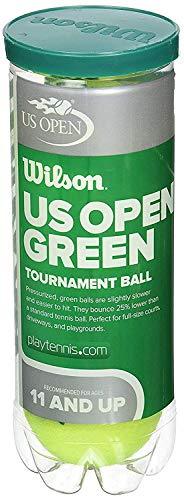 Wilson WRT137500 US Open Tournament Synthetic Tennis Balls, 2-CAN (Green)