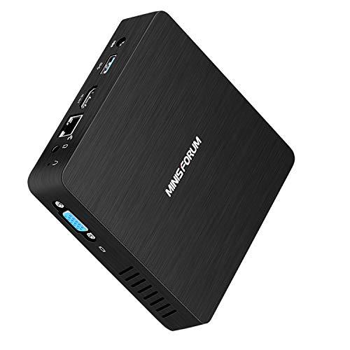 Z83-F Mini PC, Intel Atom x5-Z8350 Processor 4GB/64GB Windows 10 1000Mbps LAN 2.4/5.8G Dual Band WiFi BT 4.0 with HDMI and VGA Ports, Fanless Computer