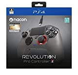 Nacon Revolution PRO Controller V2 Gamepad PS4 Playstation 4 Esports/Fighting Customisable [Wired] RIG 500PRO Limited Edition - Titanium/Black