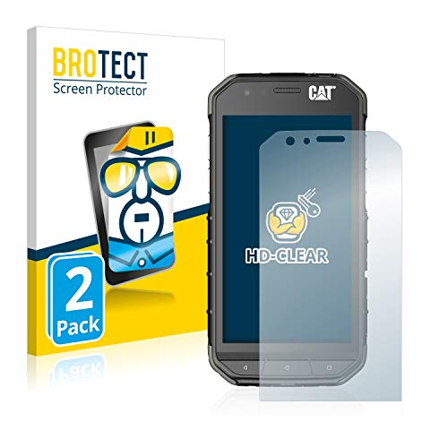 BROTECT Schutzfolie kompatibel mit Caterpillar Cat S31 (2 Stück) klare Bildschirmschutz-Folie