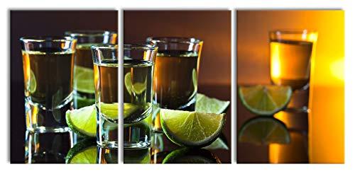 Tequila met kalkXXL canvasbeeld 3 deel | 210x100cm volledige maatregel | Wanddecoraties | Kunstdruk
