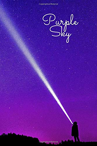 Purple Sky Notebook: Travel Notebook, Journal, Diary (110 Pages, Blank, 6 x 9)